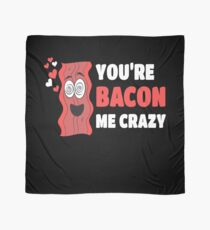 Bacon Pun Funny Gift Apparel Scarf