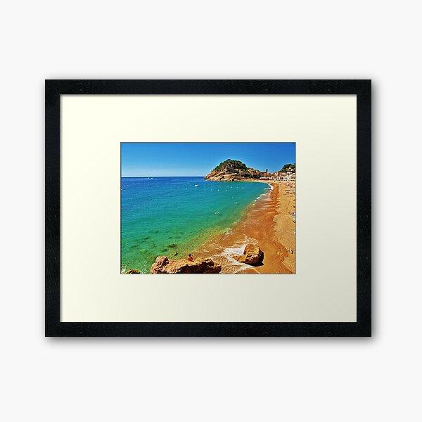 Tossa Beach - Tossa de Mar, Spain Framed Art Print