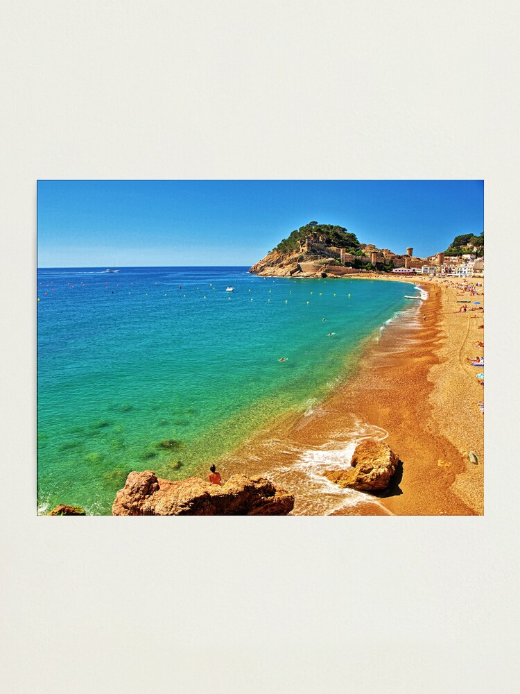 Alternate view of Tossa Beach - Tossa de Mar, Spain Photographic Print