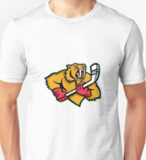 Saber Toothed Cat Ice Hockey Mascot Unisex T-Shirt