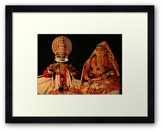 Indian Costume Actors, Kathakali Dance Performers, Cochin by Jane McDougall