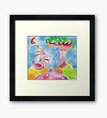 """Magical tree""-Children Colorful Fantasy Stories Framed Print"