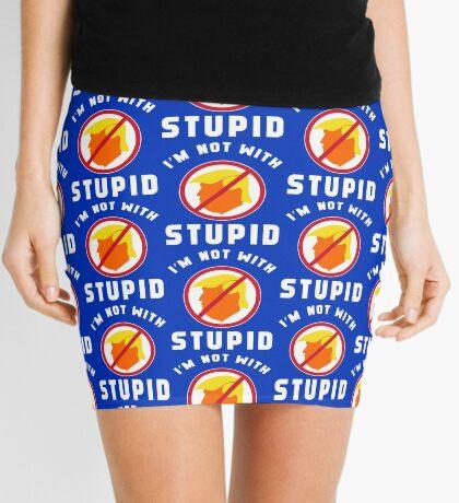 Not With Stupid Trump Mini Skirt