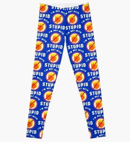 Not With Stupid Trump Leggings