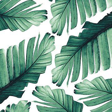 Tropical Banana Leaves Dream #3 #foliage #decor #art by anitabellajantz