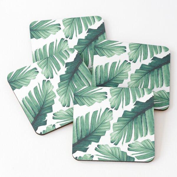 Tropical Banana Leaves Dream #3 #foliage #decor #art Coasters (Set of 4)