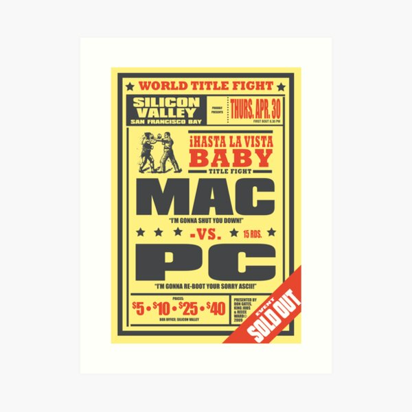 Mac vs. PC Art Print