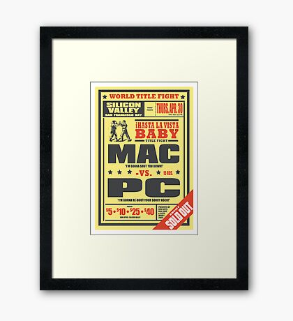 Mac vs. PC Framed Print