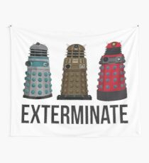 Daleks through the Years Wall Tapestry