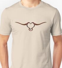The Lovely Longhorn clothing - BROWN detail  Unisex T-Shirt