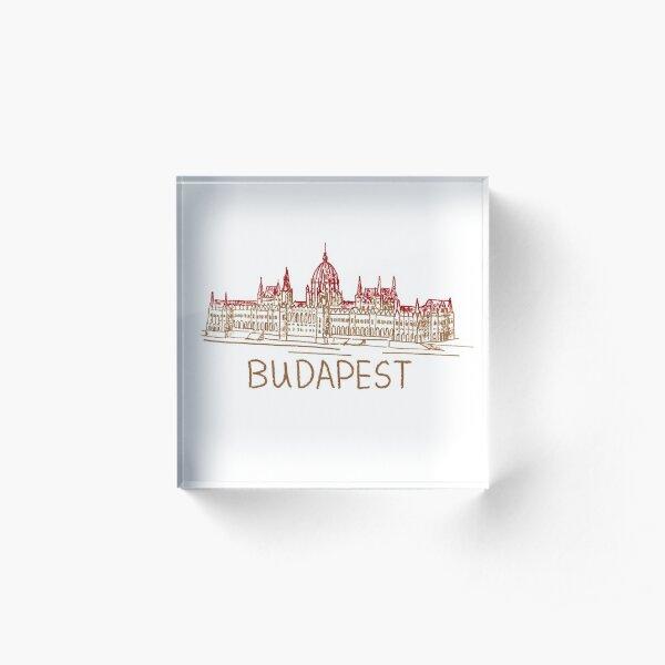 Budapest Hungary Acrylic Block