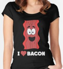 Funny Bacon Lover Apparel Gift Women's Fitted Scoop T-Shirt