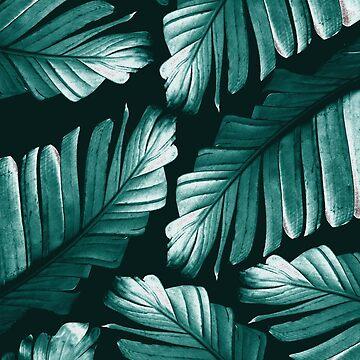 Tropical Banana Leaves Dream #2 #foliage #decor #art by anitabellajantz