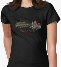 Budapest Panorama at night Women's Fitted T-Shirt