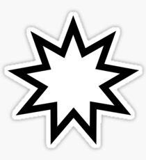 Nine pointed star Bahai star symbol Sticker