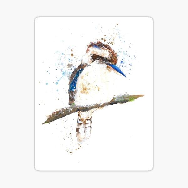 Watercolour Kookaburra Sticker