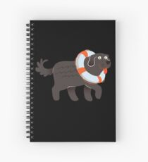 Big And Cute Newfoundland  Spiral Notebook