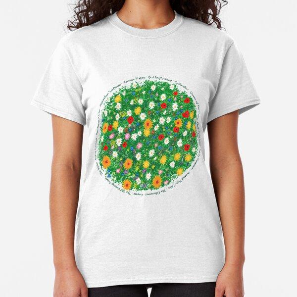 Classic T-Shirt,Winged Birds on Tree Fashion Personality Customization