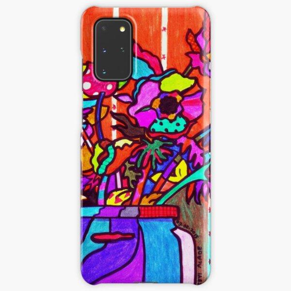 glass jar of flowers line art Samsung Galaxy Snap Case