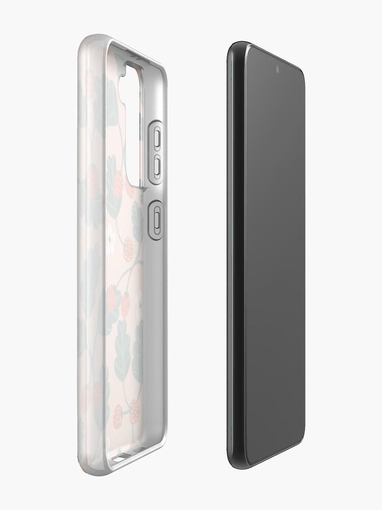 Alternate view of Strawberries Case & Skin for Samsung Galaxy