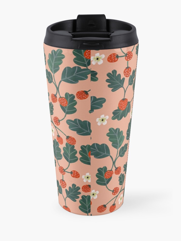 Alternate view of Strawberries Travel Mug