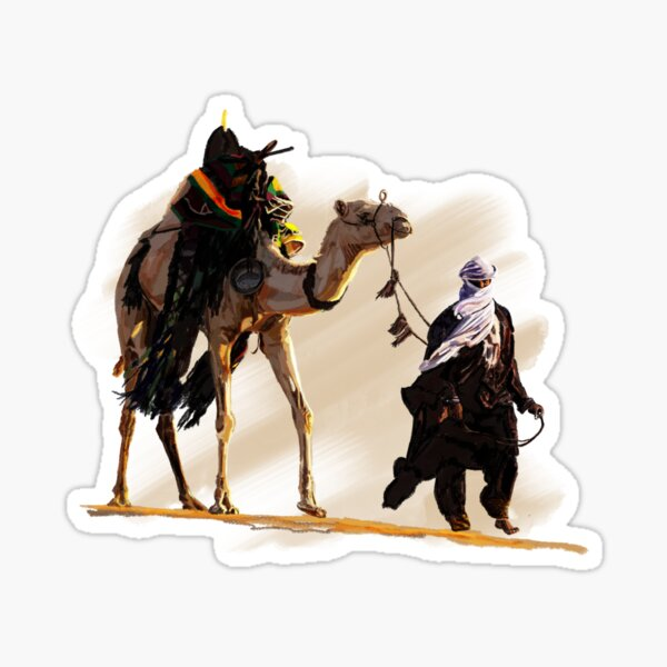 Bedouin with camel Sticker
