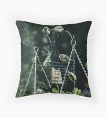 Family at my Feeder Throw Pillow