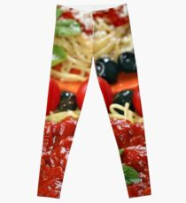 spaghetti with tomatoes and olives Leggings