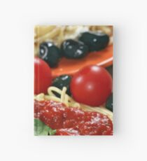 spaghetti with tomatoes and olives Hardcover Journal
