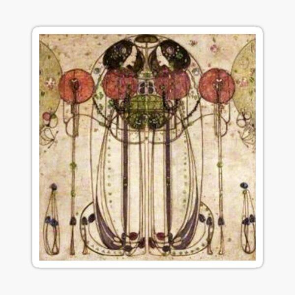 Charles Rennie Mackintosh. The Wassail 1900  (Detail, Crop). Sticker