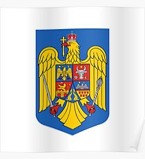 Coat of arms of Romania Poster