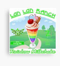 Lon Lon Ranch Milk Rainbow Milkshake Canvas Print