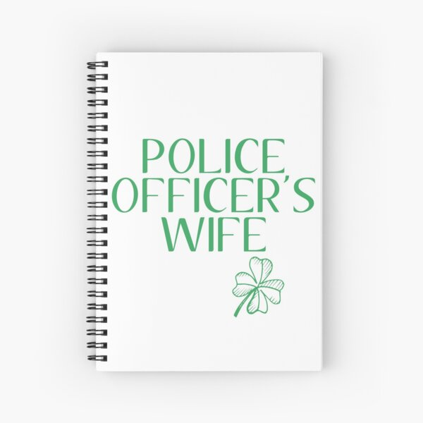 LUCKIEST POLICE OFFICERS WIFE Spiral Notebook