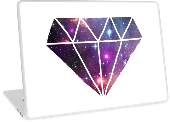 Tumblr Style Galaxy Diamond Laptop Skins By Poppetini Redbubble