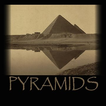 Pyramids Of Giza Ancient Egypt Nile Reflection  by bev100