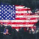 Karten-Grafikmalereiillustration Vereinigter Staaten von Amerika von Ingo Menhard