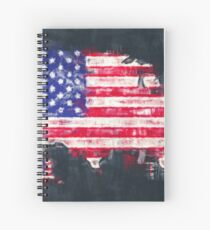 United States of America map artwork painting illustration Spiral Notebook