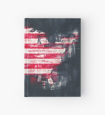 United States of America map artwork painting illustration Hardcover Journal