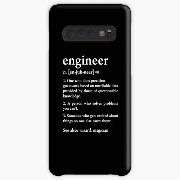 Engineer Definition Funny Computer Mechanical Engineering Gift Samsung Galaxy Snap Case