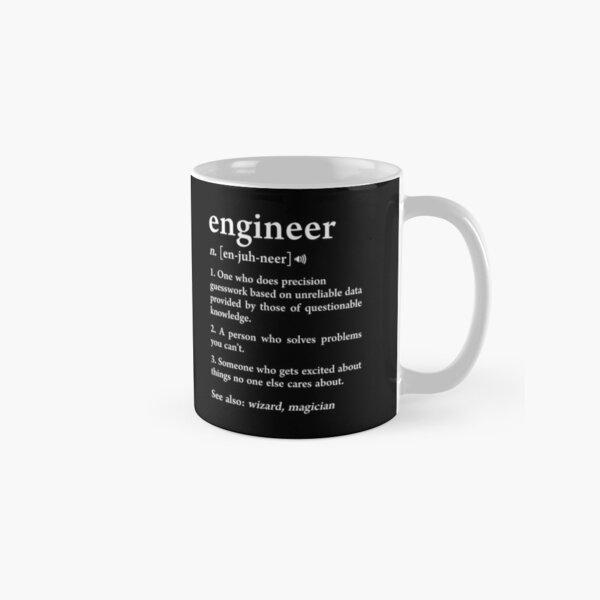 Engineer Definition Funny Computer Mechanical Engineering Gift Classic Mug