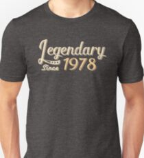 Legendary Since 1978 40th Birthday Slim Fit T-Shirt