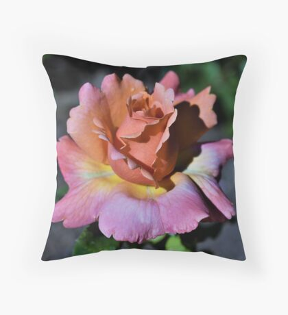 Sherbert Rose Throw Pillow
