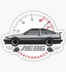light grey AE86 Sticker