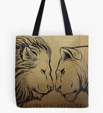 Lion King and Queen Tote Bag