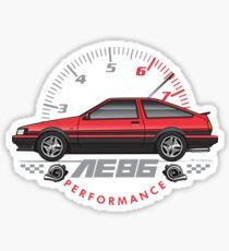 Red ae86 Sticker