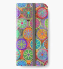 Cogflower Time Pattern by Lierre Kandel iPhone Wallet/Case/Skin