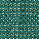 Bumblebee Pattern in Teal by ArtOfSkuba