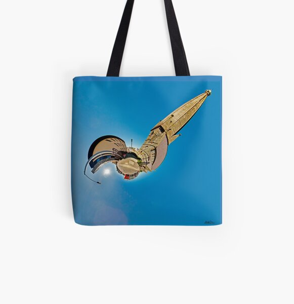 All Saints Clooney, Derry All Over Print Tote Bag