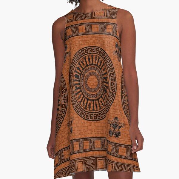 Greek Gods Pattern A-Line Dress