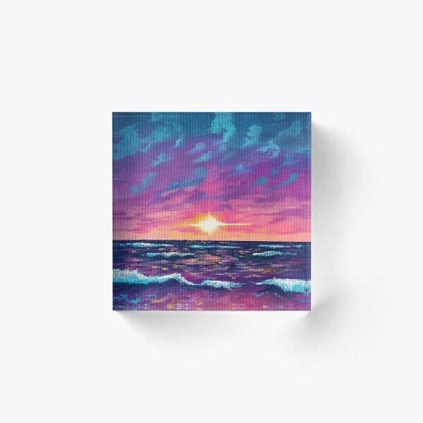 Ocean Sunset Acrylic Block